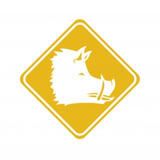 Aufkleber/Sticker Wildschwein Crossing Wildsau Jäger Jagdschutz 15x15cm #A557