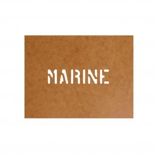 Marine Schablone Bundeswehr Ölkarton Lackierschablone 2, 5x11cm #15128