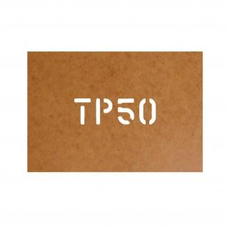 TP50 Schablone Stencil Ölkarton Bundeswehr Militär US Army für Lackierung#26137