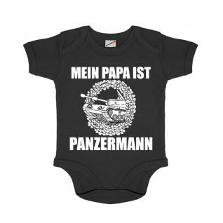 Baby Strampler Mein Papa ist Panzermann Barett Geschenk Idee PzBtl #30657