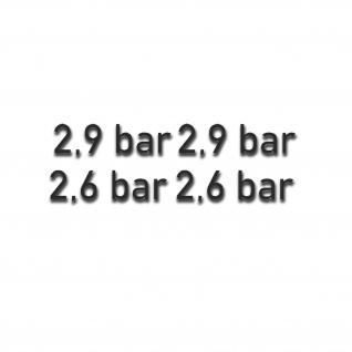 2, 6-2, 9 bar Reifendruck Aufkleber Sticker Kotflügelaufkleber 2x 1, 5x5cm#A5443