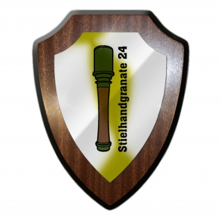 Wappenschild Stielhandgranate 24 Militär Einheit Wappen Abzeichen #27939