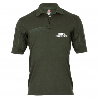 Tactical Poloshirt Alfa - Prepper 100% to be prepared Katastrophe #19058
