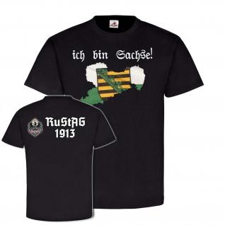 Ich bin Sachse RuStAg 1913 Sachsen Freistaat Sachsen Wappentier Wappen #25113