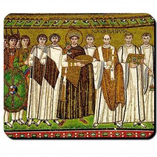 Mosaikbild 6 Jahrhundert Kaiser Justinian Römisches Reich Mosaik Mauspad #16135