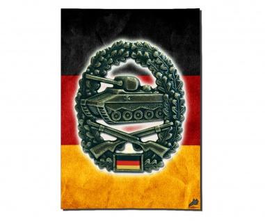 Poster Panzergrenadier Abzeichen BW Fahne Deutschland Flagge ab 30x21cm #30959