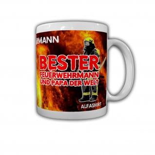 Tasse Bester Feuerwehrmann Bester Papa der Welt Vatertag Geschenk Dad #32140