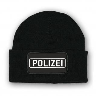 Mütze/Beenie - Polizei Police Abzeichen Winter Geschenk Streife - #10352 m