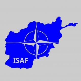 Sticker Aufkleber ISAF NATO Afghanistan Auslandseinsatz AGF 10x7cm #A068