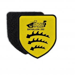 Patch PzGrenBtl 292 Panzergrenadierbataillon 292 Aufnäher BW Wappen #26131