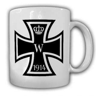Eisernes Kreuz 1914 Wk Deutschland Orden Abzeichen EK Tasse #14183