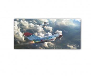 Poster rOEN911 MiG 15 345 KPAAF Jagdflugzeug Kim Jong-Un Fagot ab30x14cm#30705