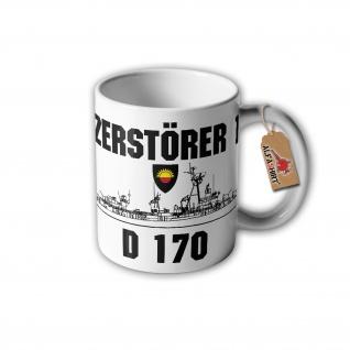 Tasse Zerstörer 1 D170 Bundeswehr Marine Bundesmarine Besatzungs #32421
