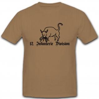 12 InfDiv Infantriedivision Wh Wappen Abzeichen Emblem WK - T Shirt #3042