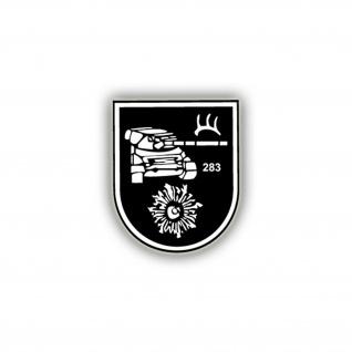 Aufkleber/Sticker PzBtl 283 Panzerbataillon Wappen Abzeichen 7x6cm A767