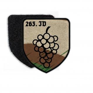 Patch 263 ID Infanterie Division Wappen Abzeichen Weintrauben Splittertarn 23458