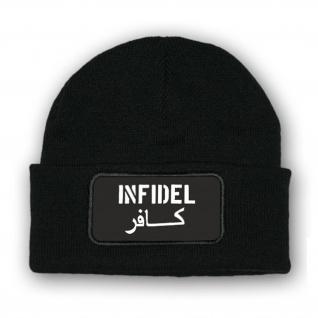 Mütze/Beenie - Infidel Ungläubiger Crusader Kreuzritter Soldaten - #10328m