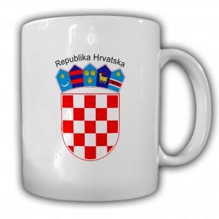 Kroatien Wappen Emblem Republika Hrvatska - Kaffee Becher Tasse #13666