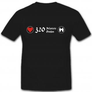 320 Infdiv Militär Wh Heer Einheit Wappen Abzeichen Emblem T Shirt #2588