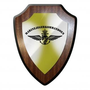 Wappenschild / Wandschild - Marinejegerkommandoen MJK Spezialeinheit #8930