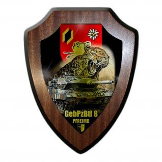 Wappenschild Lukas Wirp Gebirgs-Panzerbataillon 8 GebPzBtl Leopard 2A6 #24430