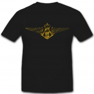 Belgien Luftwaffe Militär Wappen Emblem Abzeichen Teileinheit - T Shirt #2614