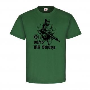 08-15 MG Schütze Wassergekühltes Maschinengewehr Kaiserreich Heer T-Shirt#20088