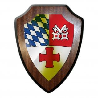 Wappenschild SanBtl 4 Deutschland Sanitäter Bundeswehr Abzeichen#35445