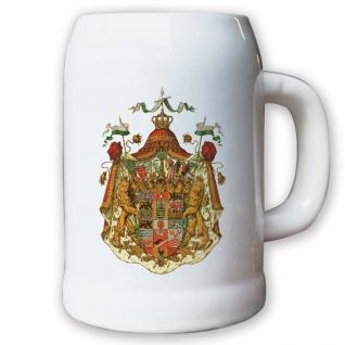 Krug / Bierkrug 0, 5l - Herzogtum Sachsen-Altenburg großes Wappen Herzog #9443