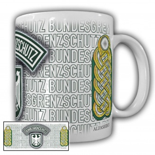 Tasse Brigadegeneral BGS Bundesgrenzschutz Wappen Abzeichen Andenken #23705