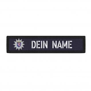 Patch Namens-Schild Polizei Hessen Klett Streifen personalisiert Namen #38203