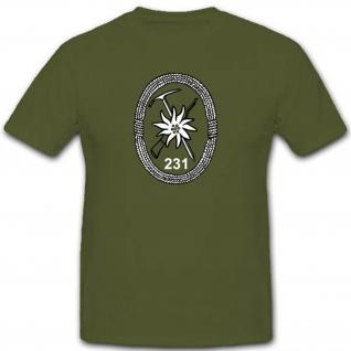 Gebjgbtl231 Gebirgsjägerbataillon 231 Bundeswehr Militär Einheit - T Shirt #3505