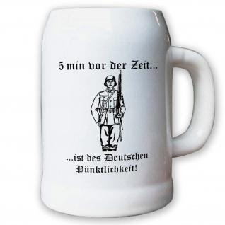 Krug / Bierkrug 0, 5l -Bierkrug 5 min vor der zeit ist des Deutschen #13076