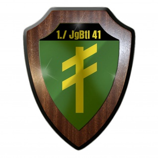 1 JgBtl 41 Jägerbataillon Kompanie Wappen Abzeichen Wappenschild #17531