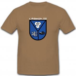 4PzGrenBtl332 Bundeswehr Panzergrenadiere Militär Heer Wappen Abzeichen - T Shirt #7854