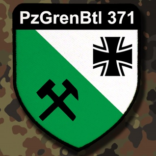 Patch / Aufnäher - PzGrenBtl371 Panzergrenadier Bataillon Badge Emblem #7823