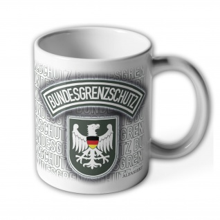 Tasse Bundesgrenzschutz BGS ALT_Polizei Wappen Abzeichen Adler Genscher #23685