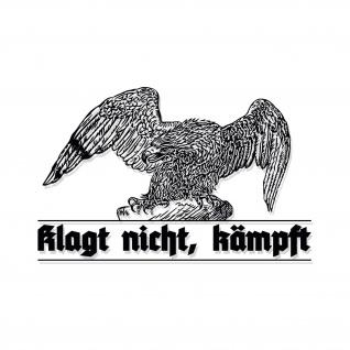 Wandtattoo Adler Klagt nicht kämpft Aufkleber Preußen Deutschland 70x45cm#A4630