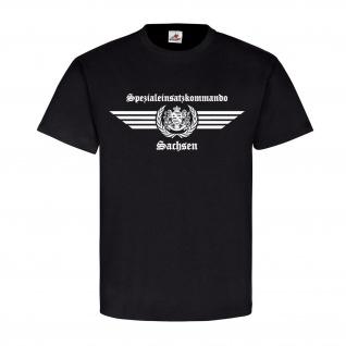 SEK Sachsen altes Logo Spezialeinsatzkommando Auto Spezialeinheit T-Shirt#23682