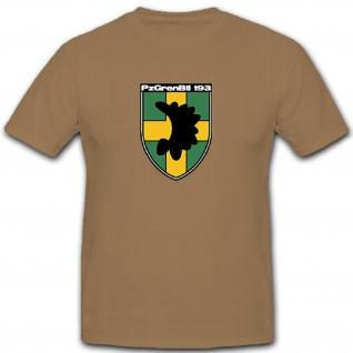 PzGrenBtl 193 Panzer Grenadier Grenadiere Bataillon Bundeswehr - T Shirt #10103