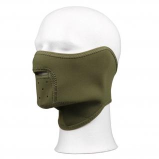 Tactical Neopren oliv Gesichtsmaske Winter Kommando Sturmhaube BW Us Army #16073