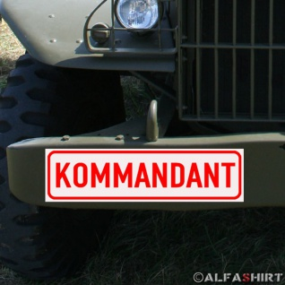 Magnetschild Bw Kommandant für KFZ Fahrzeuge Kübel Iltis Wolf etc #A159