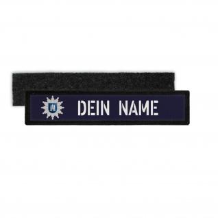 Patch Namens-Schild Polizei Hamburg Klett Streifen personalisiert Uniform #36320