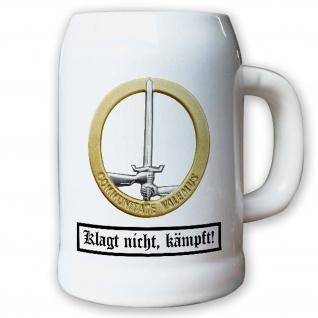 Krug / Bierkrug 0, 5l - Barettabezeichen Deutsch Niederland Korps #10911