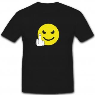 F**k You Smiley Fun Humor Spaß Mittelfinger FSK 18 - T Shirt #4144