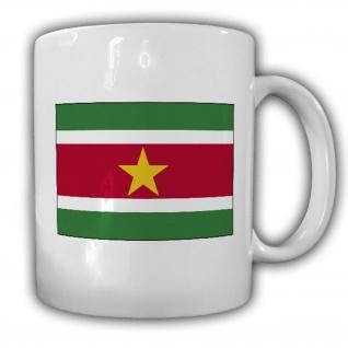 Tasse Republik Suriname Fahne Flagge Kaffee Becher #13928