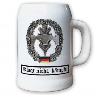 Krug / Bierkrug 0, 5l -Barettabezeichen Pioniere Truppe Pios Bundeswehr #10926