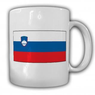 Tasse Republik Slowenien Ljubljana Fahne Flagge Kaffee Becher #13904