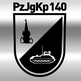 Aufkleber/Sticker PzJgKp 140 Panzerjägerkompanie Wappen Abzeichen 10x7cm #A414