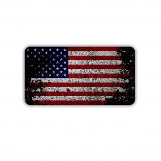 Aufkleber/Sticker USA Flagge Fahne Amerika Us Army Militär 7x4cm A1732
